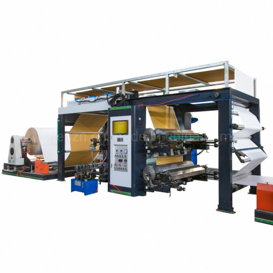 Plastic Woven Fabric HDPE PP Polymer Kraft Paper Three in One Paper Bag Machine