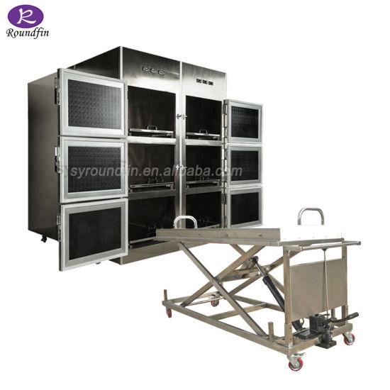 6 Corpses Funeral Device Mortuary Dead Body Freezer Price/Mortuary Body Refrigerators