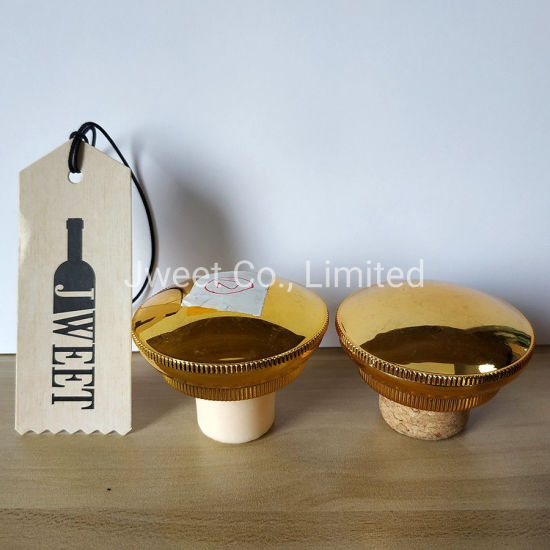 High Quality Golden Color Synthetic Cork for Spirits Bottle Usage