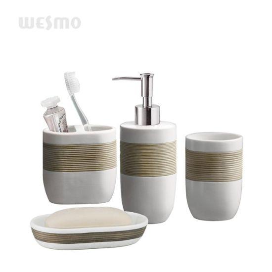 Hand Brush Painting Porcelain Bathroom Set