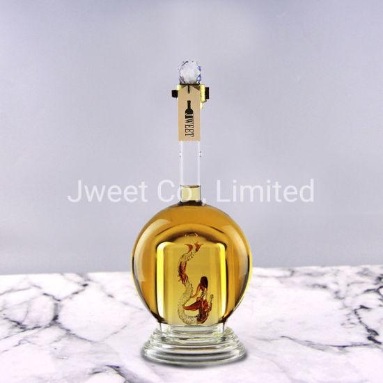Custom High Borosilicate Glass 700ml Tequila Bottle