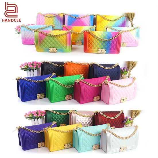 Distributor Wholesale Market Designer Woman Leather Fashion Ladies Purse Women Clutch Brand Luxury Crossbody Mini Lady Handbag Purse PVC Jelly Shoulder Bag
