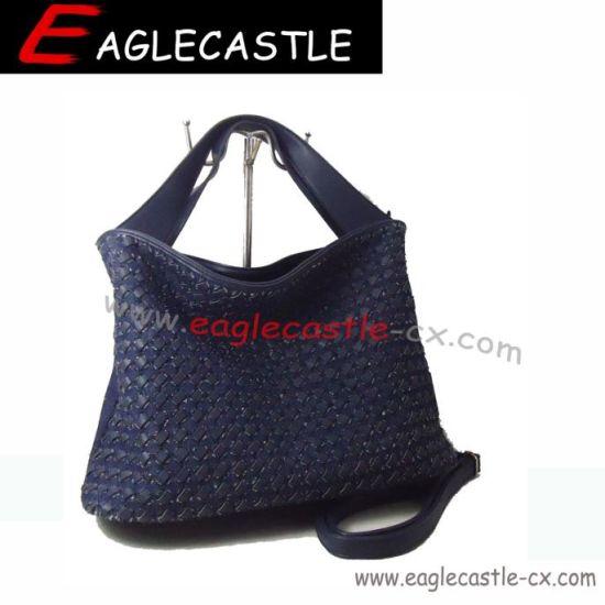 Denim Lady Tote Bag / Woman Nice Fashion Handbag / PU and Denim / Shoulder Bags (CX9706-3)