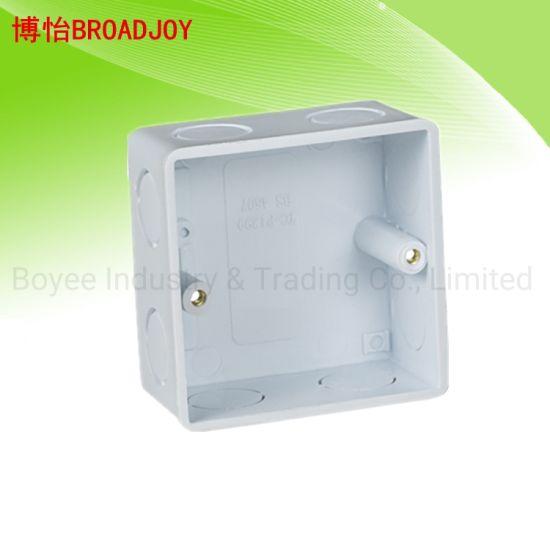 PVC Electrical Single Switch Gang Box for PVC Conduit