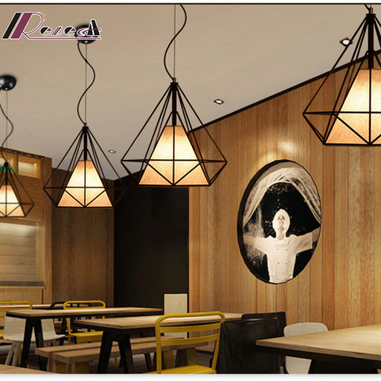 E27 60W Metal Polygonal Dining Room Pendant Light pictures & photos