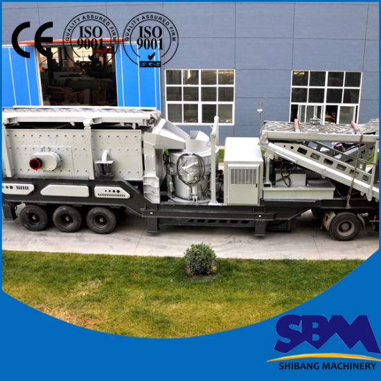 Low Price Mobile Impact Crusher Crushing Plant pictures & photos