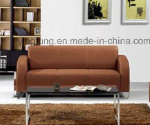 Modern Leather Office Sofa with Metal Base (SF-6045) pictures & photos