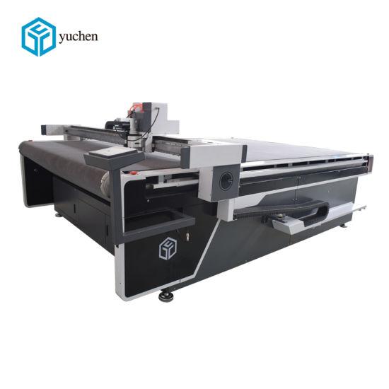 China Yuchen Fabric Material PU Leather Cutter Carpet Cutting Machine for Customized