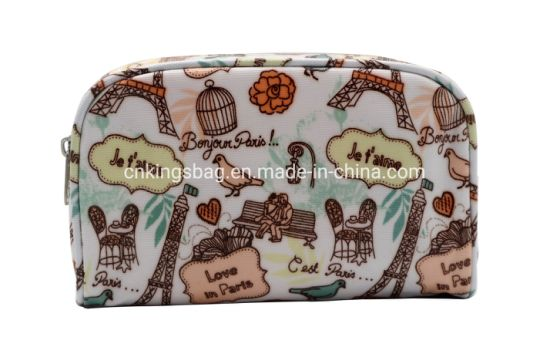 Polyester Coated with Full Prints Beauty Women Cosmetic Bag pictures & photos