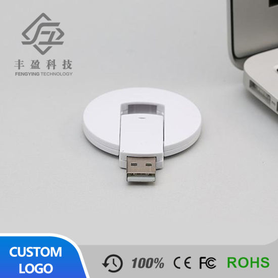 Round Shape Full Color Logo Printing Card USB Stick pictures & photos