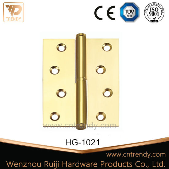 China Wooden Interior Door Hardware Brass Hinge With Flat Head Hg