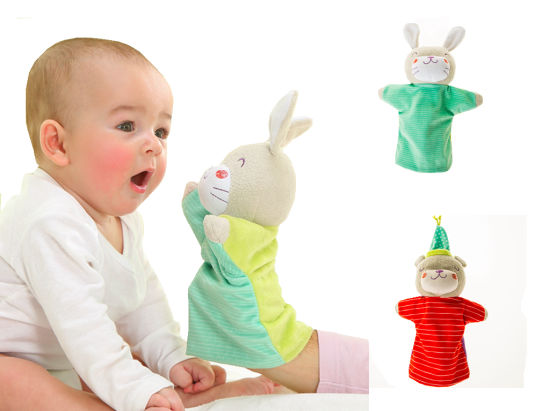 Bear & Bunny Hand Puppets for Baby Puppet Plush pictures & photos