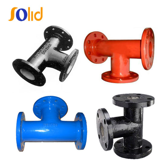 En545 Ductile Iron Pipe Fitting Epoxy All Flanged Tee