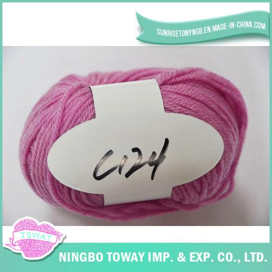 Eco-Friendly Cotton Hand Knitting Weaving Fancy Wool Yarn