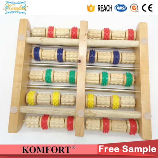 Beauty Products Skin Care Wooden Foot Massage Equipment Roller pictures & photos