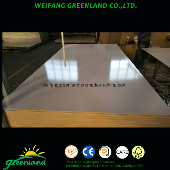 9mm High Glossy MDF White Wrting Board for School or Office