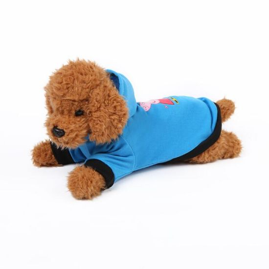 Foreign Trade Cartoon Pet Clothes Puppy Hooded Shirt Summer Small Dog Clothing Wholesale