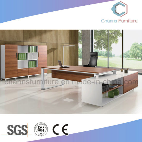 Project Design Executive Desk Office Table Office Furniture with Metal Legs (CAS-D051212)