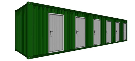 40 Feet Prefab/ Prefabricated Mobile Shipping Container for Shower Room. pictures & photos