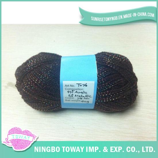 100%Acrylic Mesh Net Hand Knitting Wool Yarn with Lurex