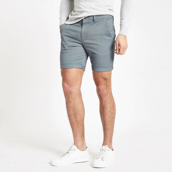 Stretch Cotton Twill Rolled Hemline Men's Shorts with Custom Logo