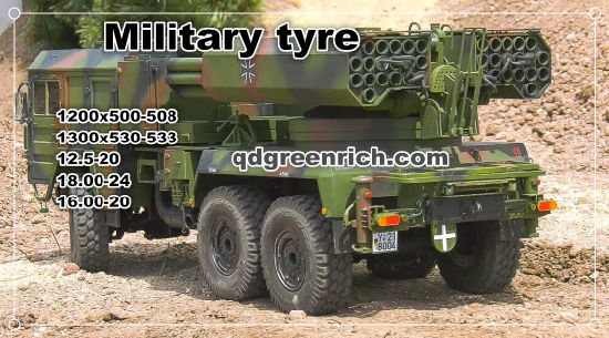 Heavy Country Cross Tire Super Military APP. Tyre E-2 E2 1200X500-508 1300X530-533 18.00-24 Army Tires