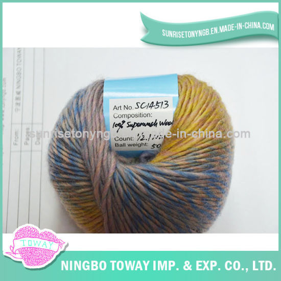 China Best Hand Dyed Colors Chunky Knitting Discount Wool