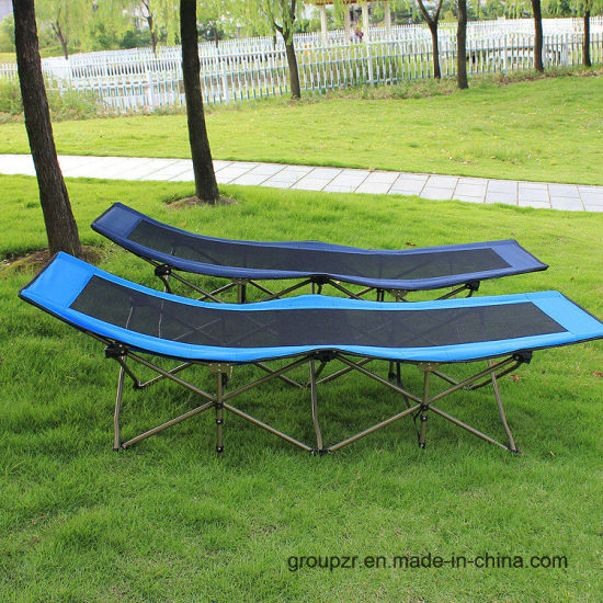 Outdoor Metal Folding Sunbed Camping Bed pictures & photos