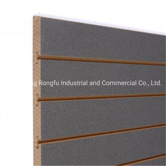 12mm 15mm 18mm Melamine Slot MDF Slatwall Slot Board with Aluminum for Furniture