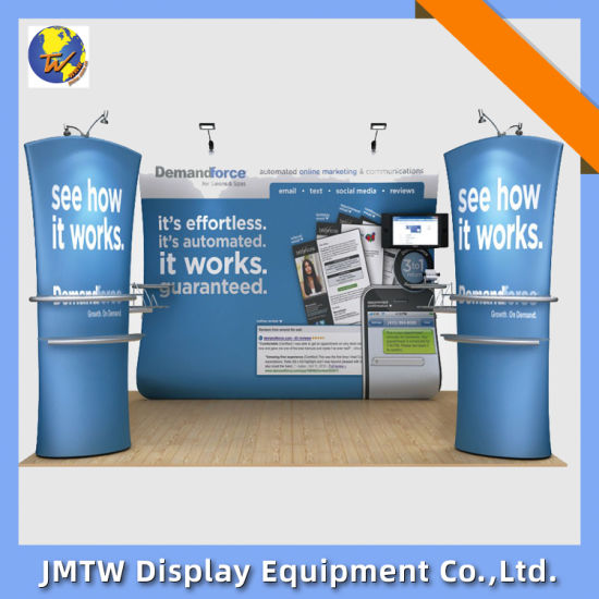 Fabric Backdrop Banner Stand for Trade Show with Three Part