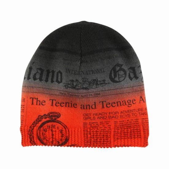 China Custom Sublimation Print Beanie Hat - China Print Beanie Hat ... c9284a457bc