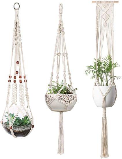 Indoor Wall Hanging Planter Basket Flower Pot Holder Boho Home Decor Macrame Plant Hangers