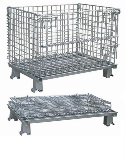 Stackable Cage, Warehouse Cage, Storage Mesh Container, Wire Mesh Basket