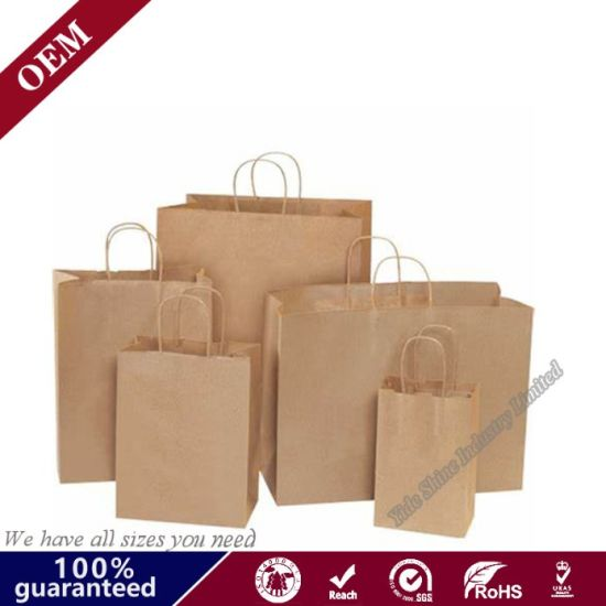 China High Quality Customized Design Bakery Paper Bags Christmas Goodie Bag Ideas Handle Kraft Paper Shopping Bag With Logo Printed China Paper Bag And Gift Bag Price