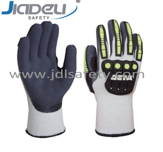 Anti-Vibration Heavy Duty Cut Resistant Thermal Working Safety Glove with TPR