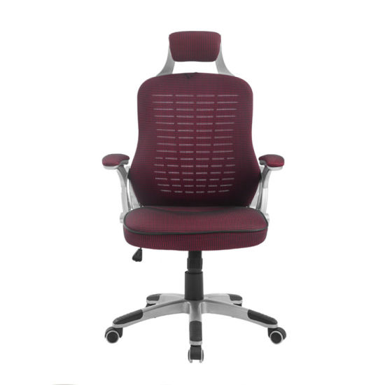 MID Back Mesh Ergonometric Plastic Meeting Metal Office Chair Red