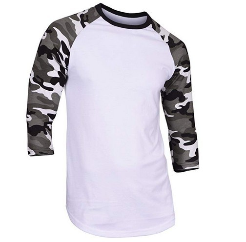 Men′s Casual 3/4 Sleeve Baseball Tshirt Raglan Jersey Shirt pictures & photos