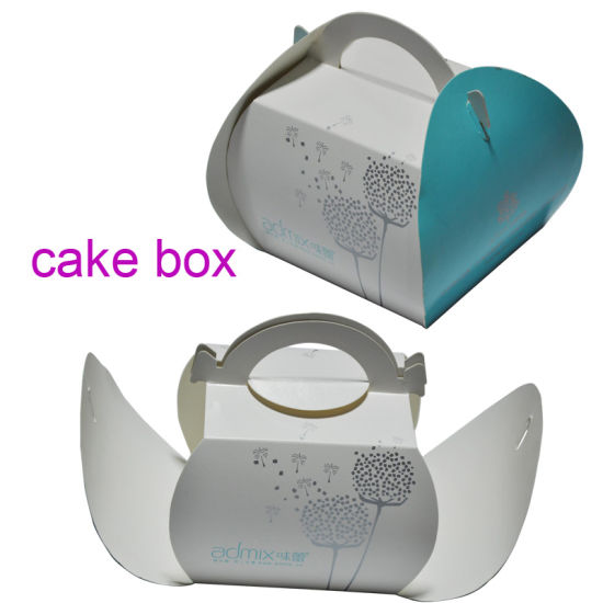 Cake Packaging Box Art Paper OEM Colorful Birthday Take Away for Dessert pictures & photos