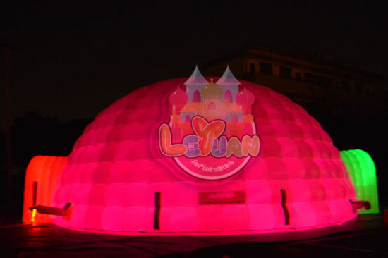 Temporary Use for Various Applications Sewing LED Inflatable Igloo Tent pictures & photos
