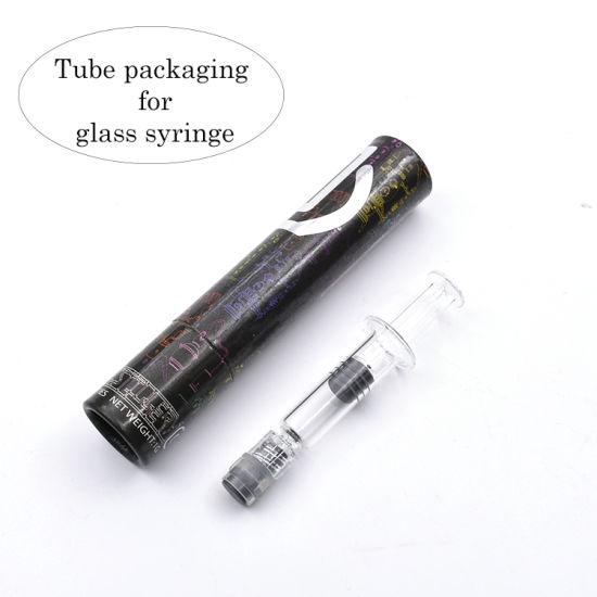 Customized Cbd Oil 1ml Glass Syringe Paper Tube Packaging
