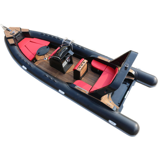 25FT 7.6m Fiberglass Yacht Rib Boat Fishing Boat Inflatable Boat Speed Boat Motor Boat Luxury Speed Yacht Military Hypalon Boat Orca Boat with CE Certification