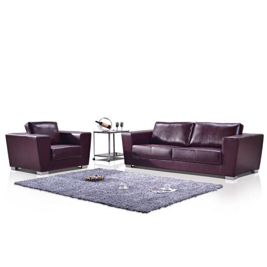 Royal Elegant Living Room Furniture Sets Office Sofa Leather Set