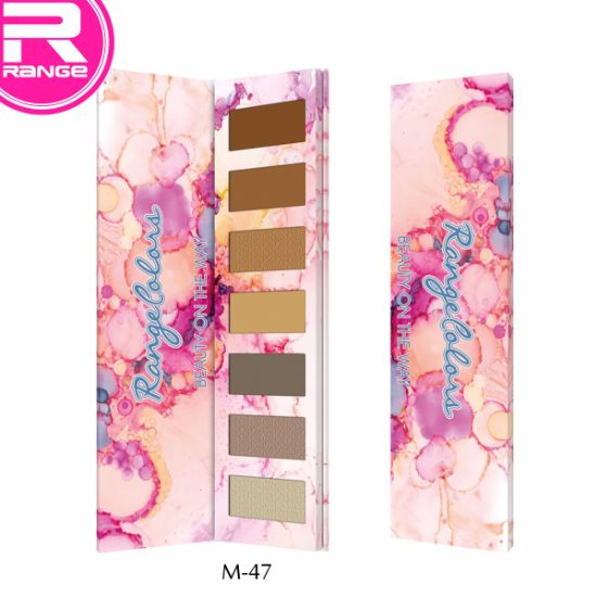 Wholesale7 Color Cardboard Eyeshadow Palette Customized Colors Matte Color Eyeshadow pictures & photos