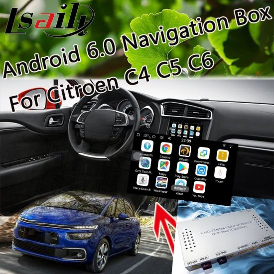 China Android 6 0 Car GPS Navigation for 2014-2018 Citroen C4 C5 C6