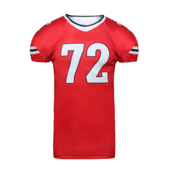 Custom Sublimation New Model Red Football Jerseys Made in China ...