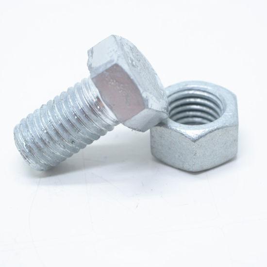 DIN933 HDG Gr 8.8 High Strength Hex Bolt and Nut