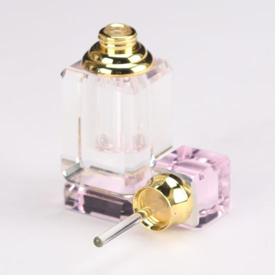 Pink Crystal Glass Perfume Bottle for Gift