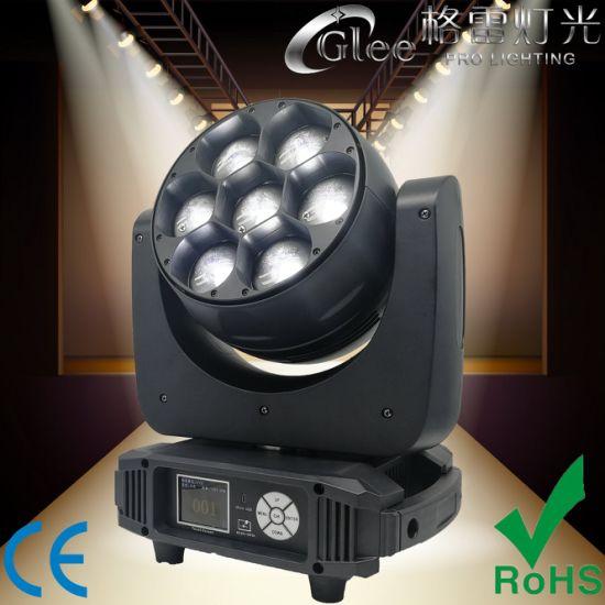 Professional 7X40W RGBW LED Zoom Beam Wash Moving Head Light
