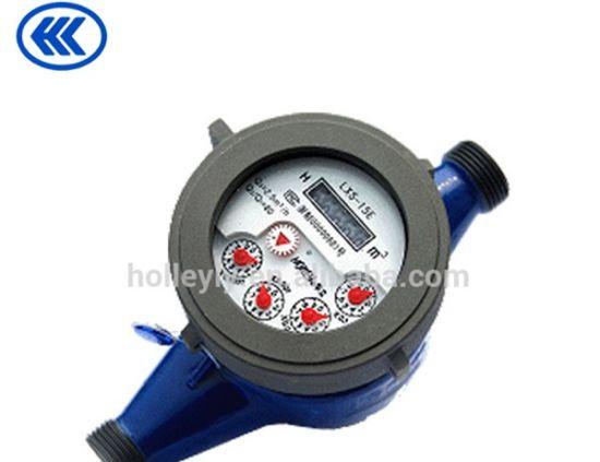 Multi Jet Liquid Sealed Water Meter Vane Wheel Stabily