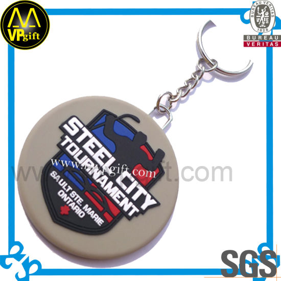 Custom Cheap Plastic Rubber Ring Key for Promotion Gift pictures & photos